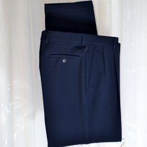 Alan Flusser Golf Dress Pleats Pants 36 x 32 Navy
